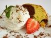 Citromos sorbet fagylalt kakaós kuglóffal